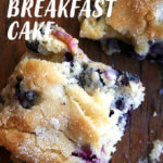 A slice of buttermilk blueberry breakfast cake.