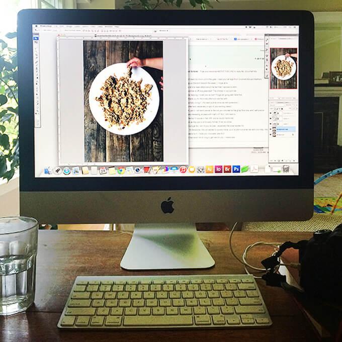 Mac desktop computer.