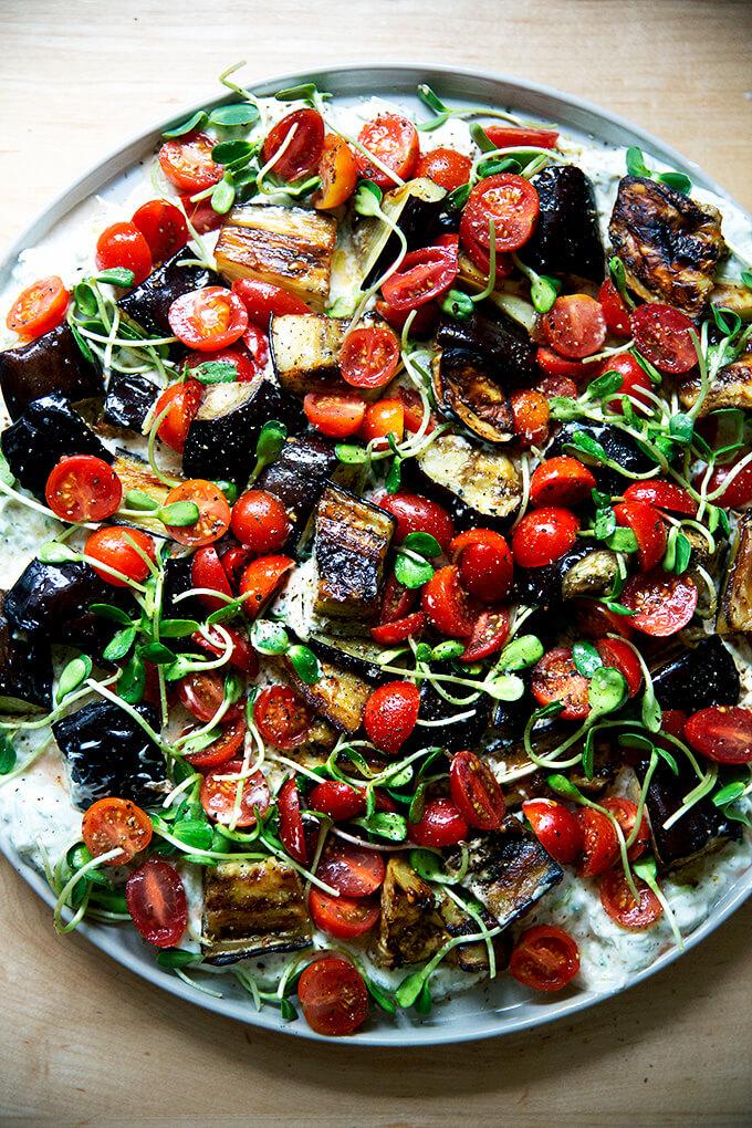 Eggplant salad.