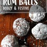 A board of boozy rum balls
