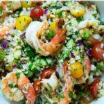 tabbouleh with shrimp