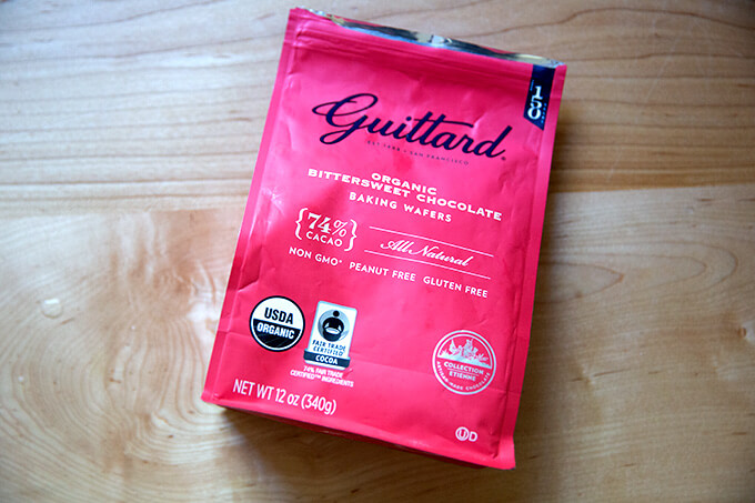 Guittard chocolate wafers.