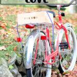A piebox bungeed to a bike.