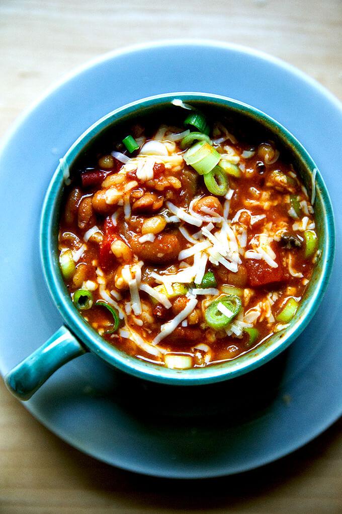 The Best Vegetarian Chili Recipe Alexandra S Kitchen