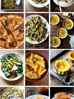 A montage of squash recipes.