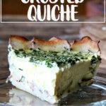Potato-crusted quiche.