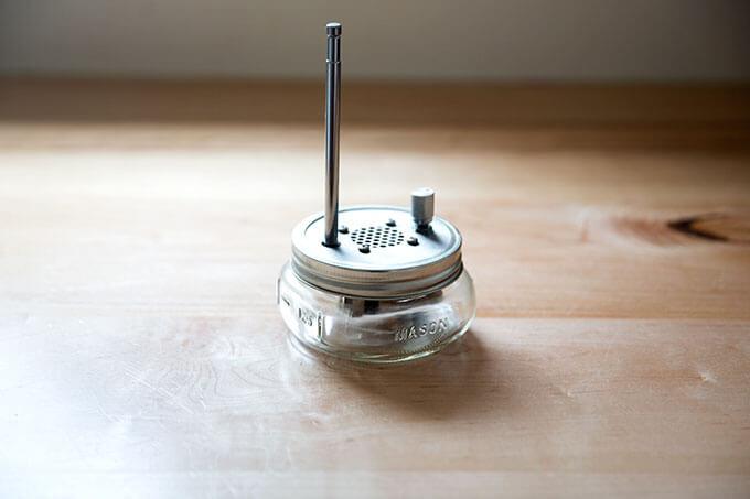 A Mason jar radio.