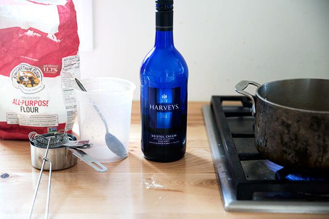 A bottle of Harvey Bristol Cream's sherry.