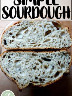 Just-baked sourdough.