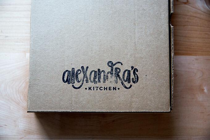 A stamped box Alexandra's Kitchen box.
