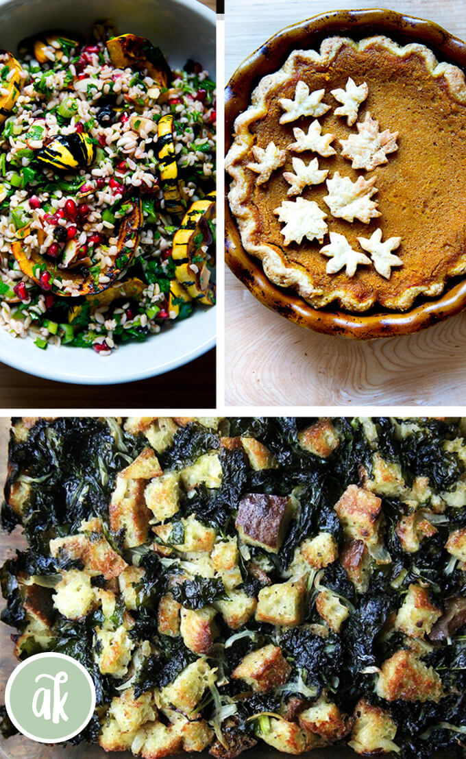 A montage of Thanksgiving 2019 recipes.