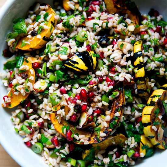 Winter Tabbouleh with Roasted Delicata Squash