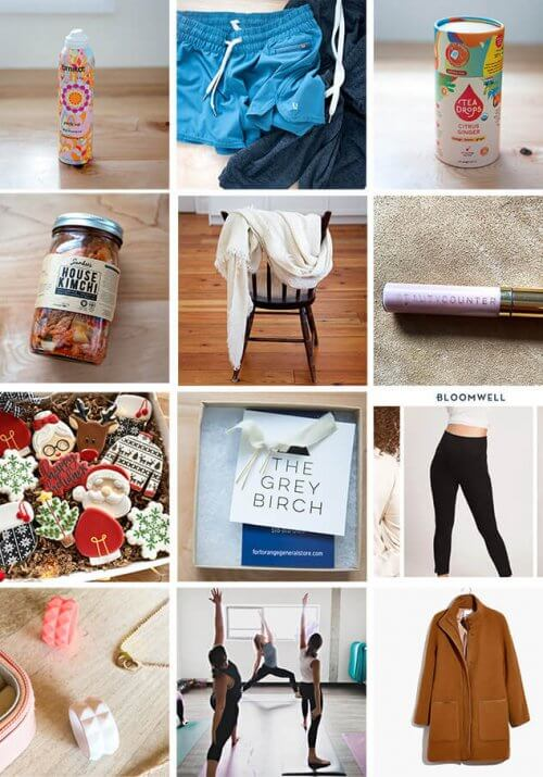 a montage of images depicting gifts for women