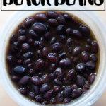 An overhead shot of a quart of slow-cooker black beans.