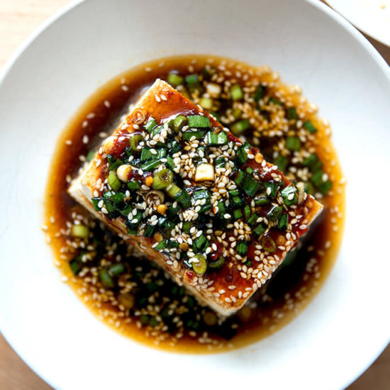 Warm Tofu with Spicy Dipping Sauce