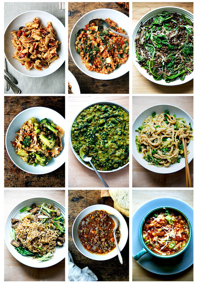 A selection of pantry recipes to make right now.