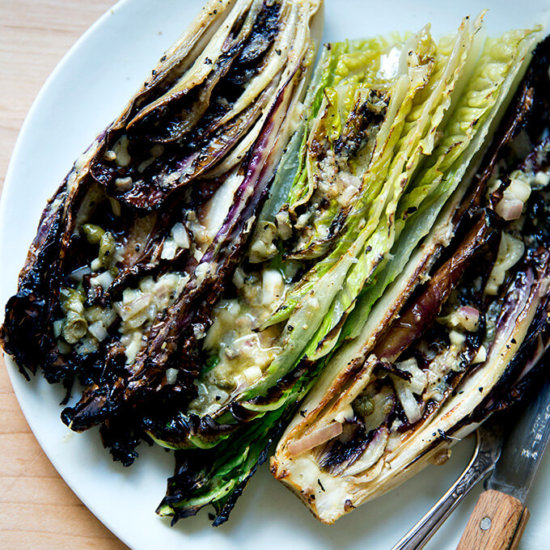 """Grilled"" Romaine Caesar Salad"