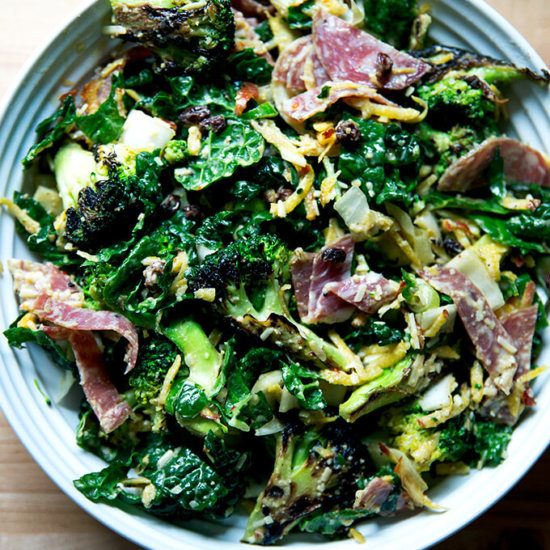 Charred Broccoli Chopped Salad with Spicy Cashew Dressing