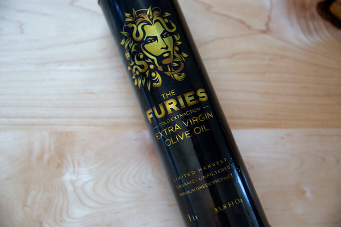 A bottle of The Furies olive oil.