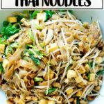 A bowl of rad na Thai noodles.