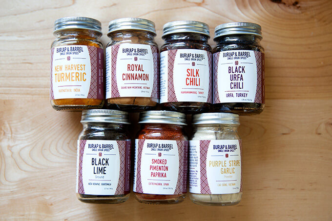 A selection of Burlap and Barrel spices.