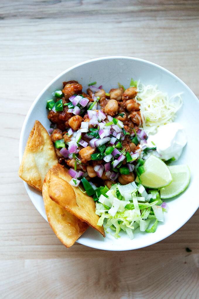 Chickpea taco bowl.
