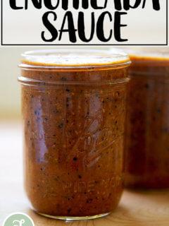 enchilada sauce in a jar