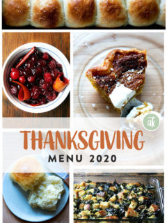 montage of thanksgiving recipes.