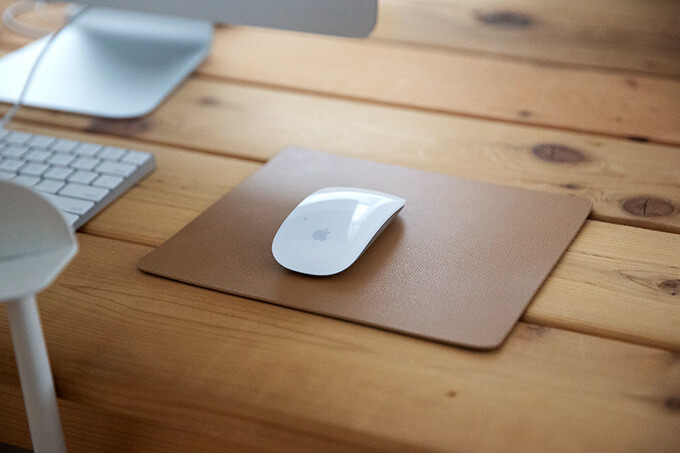 A leather mousepad.