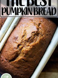 One-bowl, super delicious pumpkin bread.