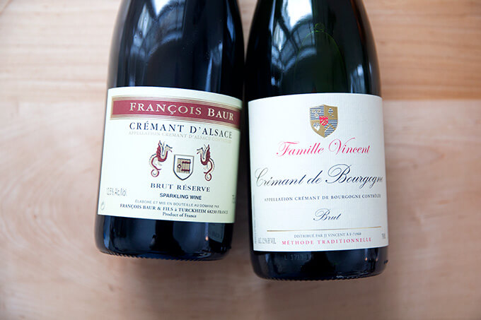 Two bottles of Cremant.