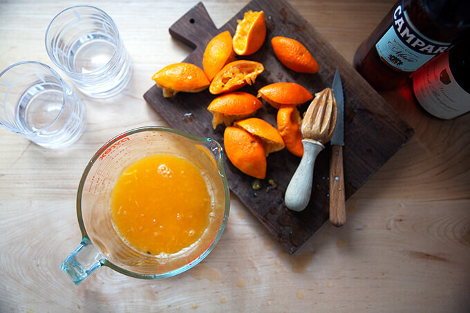 Juiced clementines.