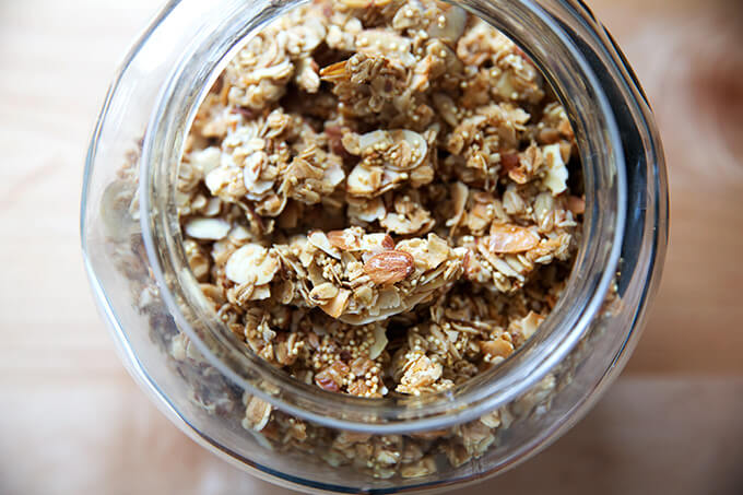 A jar of granola.