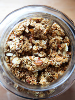 A jar of granola.
