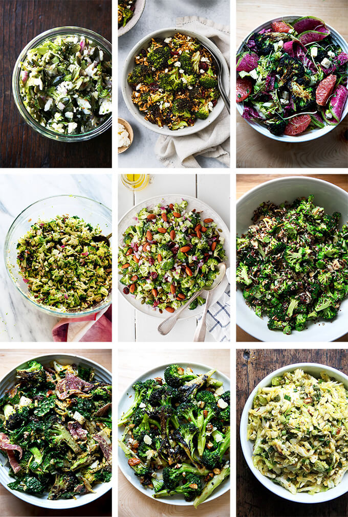 broccoli salad montage.