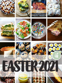 Easter recipes montage.