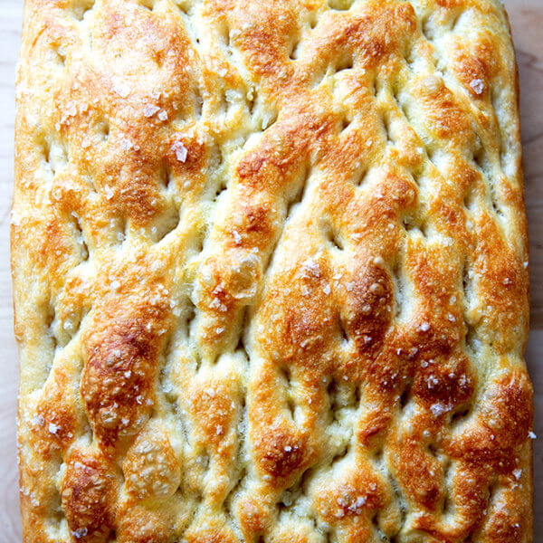 Just baked focaccia.