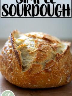 Simple sourdough bread.