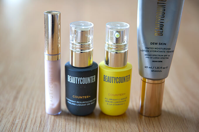 Beauty Counter products.