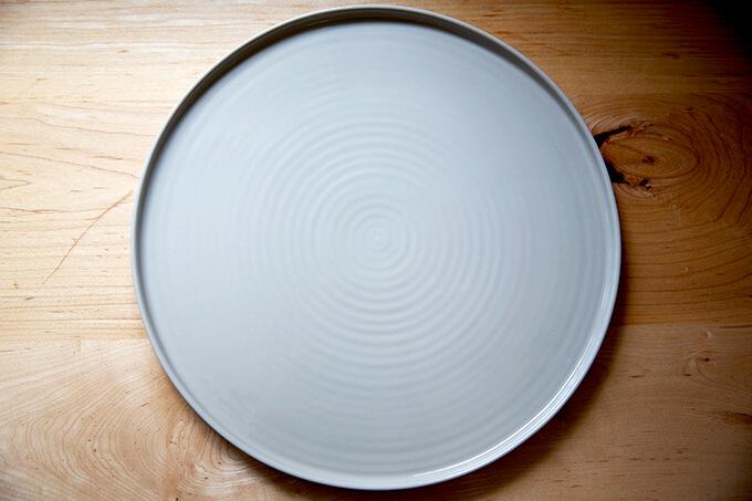 A large circular platter.