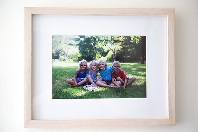 A framed Framebridge photo.