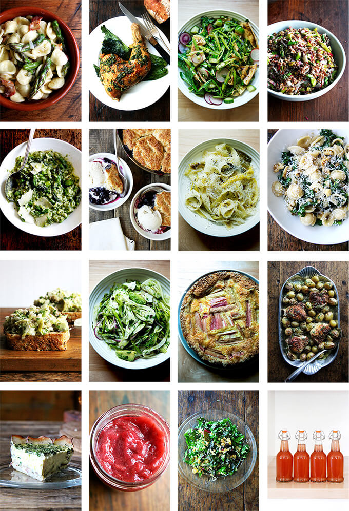 A montage of spring recipes.