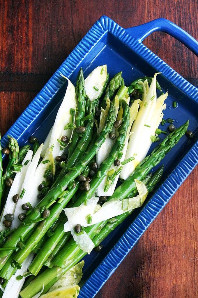 Asparagus and endive salad.