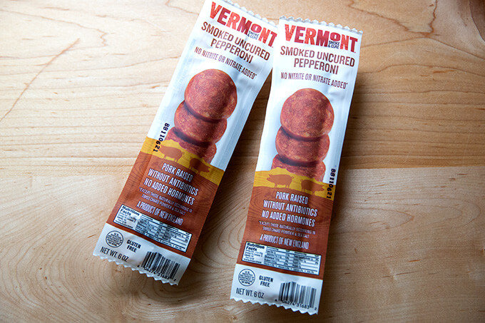 Vermont smoked uncured pepperoni.