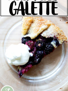 A mixed berry galette.